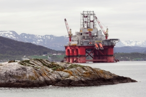 An oil rig in Norway
