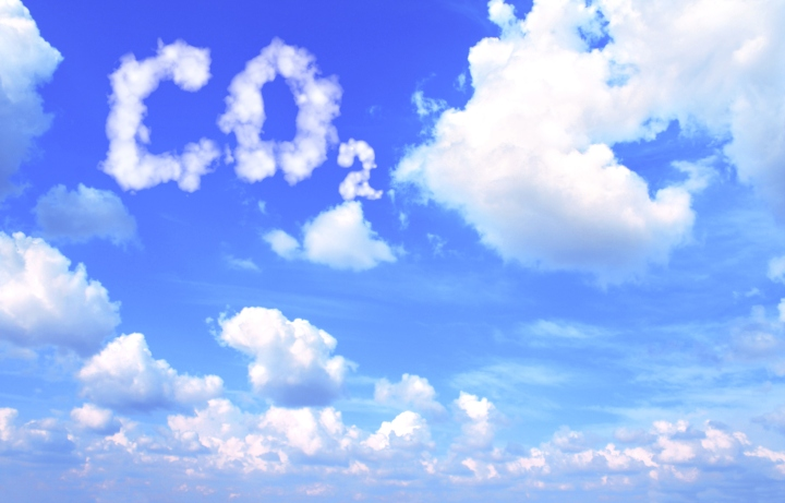 Symbol CO2 from clouds