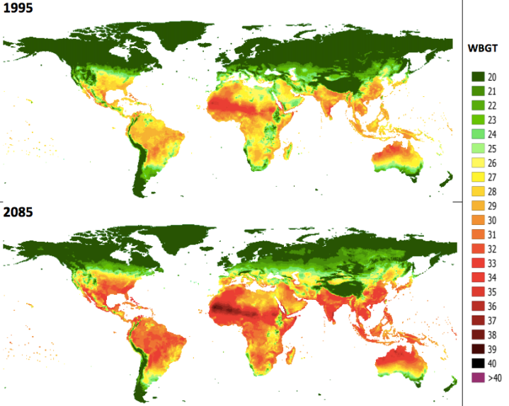 Feeling the heat so is our economyclimate environment at world map showing average mean temperatures c during afternoons of hottest months at freerunsca Images